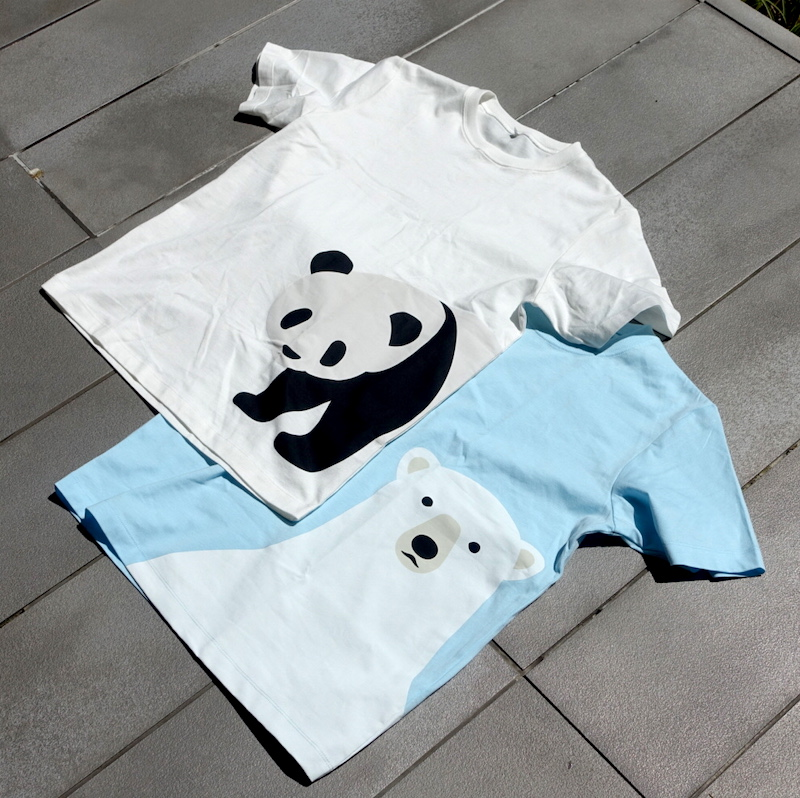 無印良品のプリントTシャツ