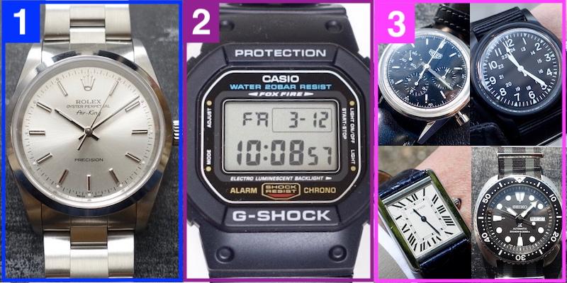 腕時計集めのマスタープラン(イメージ)