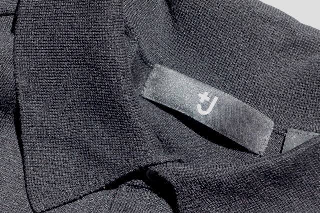ユニクロ、+J(ロゴ、製品タグ)