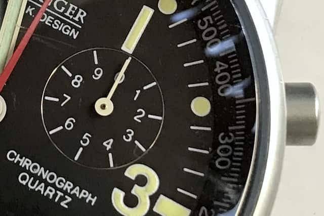 ウェンガーのコマンド・クロノグラフ、70725SAK(インダイアル)