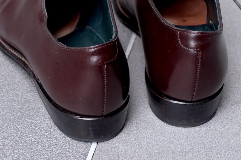 宮城興業の謹製誂靴「純」(踵部)