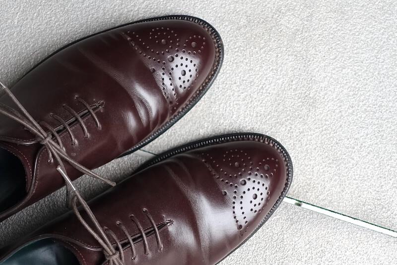 宮城興業の謹製誂靴「純」(メダリオン)