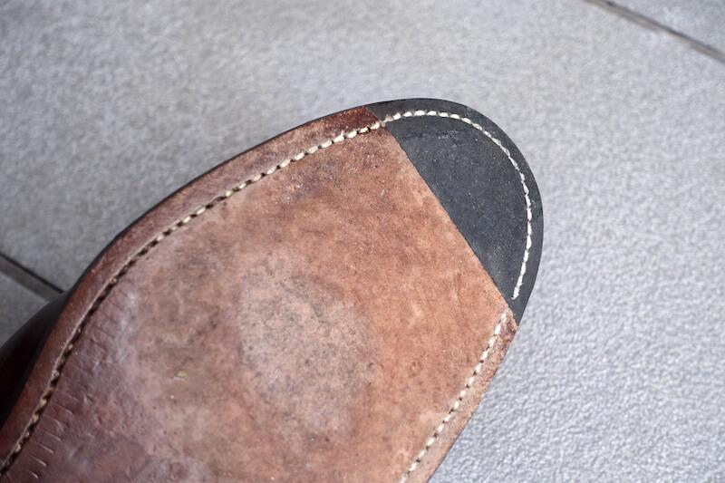 宮城興業の謹製誂靴「純」(爪先)