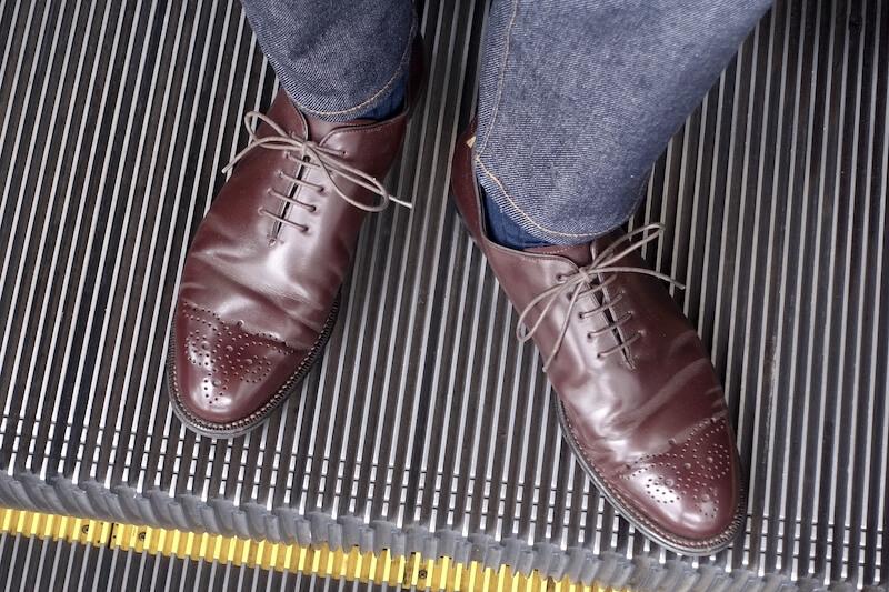 宮城興業の謹製誂靴(着用時)