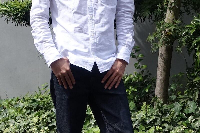 鎌倉シャツのカジュアル134のBDシャツ(裾出し)