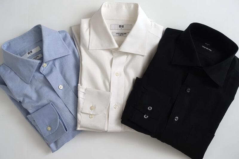 ユニクロのスーパーノンアイロンシャツ(3色、外観)